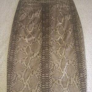 Designer Snakeskin skirt